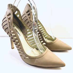 BCBGeneration Tillie Laser Cut Tan Heels